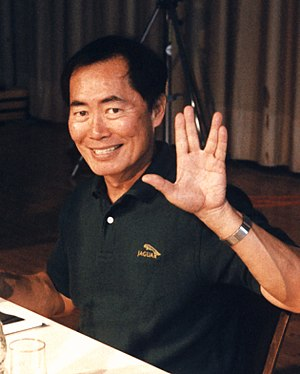 George Takei at the Star Trek Convention UFP Con One in Hamm, Germany, 1996.