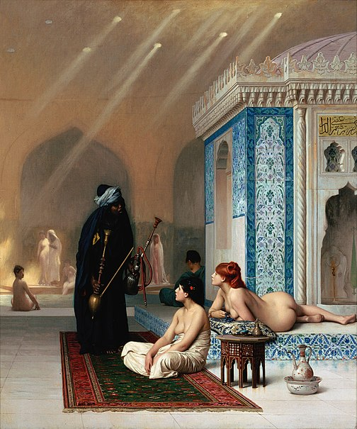 Pool in a Harem, Circa 1876 - Jean-Leon Gerome