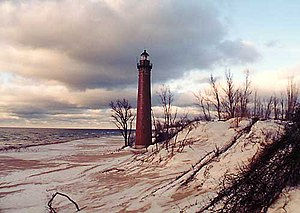 The Little Sable Point Light Station on Lake M...