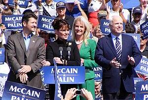 Left to right: Todd Palin, Sarah Palin, Cindy ...