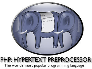 Php logo with lower text
