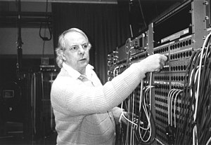 English: Karlheinz Stockhausen October 1994 in...