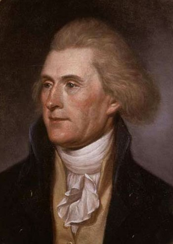 English: Cropped version of Thomas Jefferson, ...