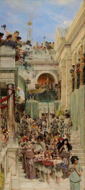 """Spring"" by Lawrence Alma-Tadema"
