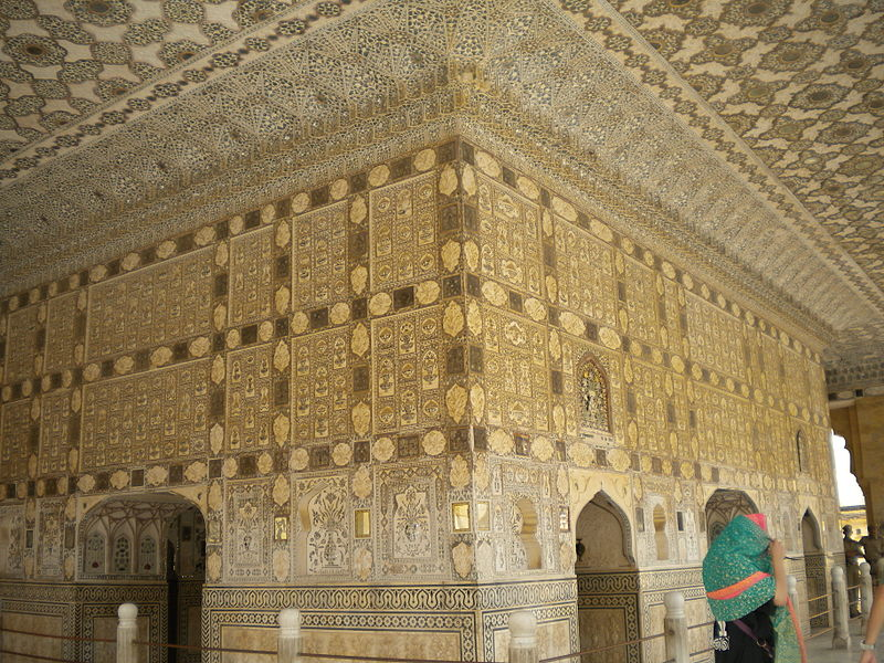 File:Amber Fort - Sheesh Mahal Interior.jpg