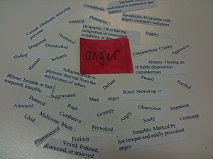 Emotions associated with anger
