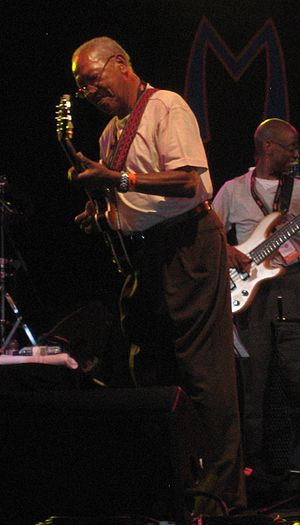 English: Ernest Ranglin performing at WOMAD, U...