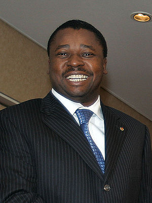English: The president of Togo, Faure Gnassing...
