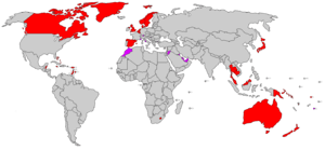 World's constitutional monarchies coloured by ...