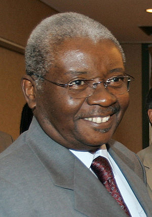 President of Mozambique, Armando Emílio Guebuz...