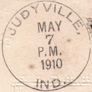A 1910 postmark.