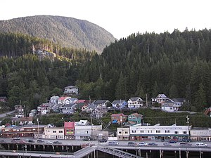 Ketchikan, Alaska from the east channel of the...
