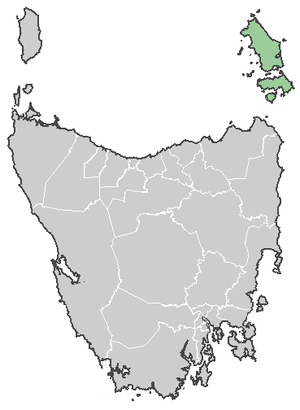 Map of Tasmanian LGA's feat Flinders