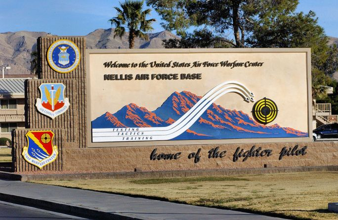 Nellis AFB - Main Sign
