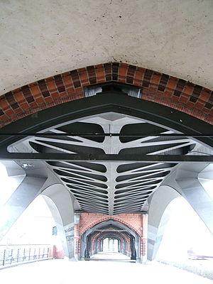 Deutsch: Detailansicht der Dachkonstruktion de...