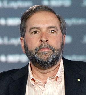 Français : Thomas Mulcair le 23 avril 2011 à M...