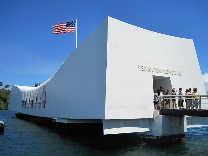 The USS Arizona Memorial, Pearl Harbor