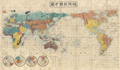 1853 Kaei 6 Japanese Map of the World - Geographicus - ChikyuBankokuHozu-nakajima-1853