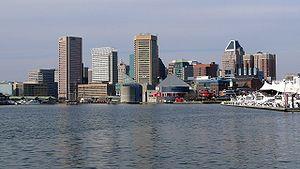 Baltimore, Maryland Skyline from the Inner Harbor