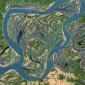 Brahmaputra by SPOT Satellite