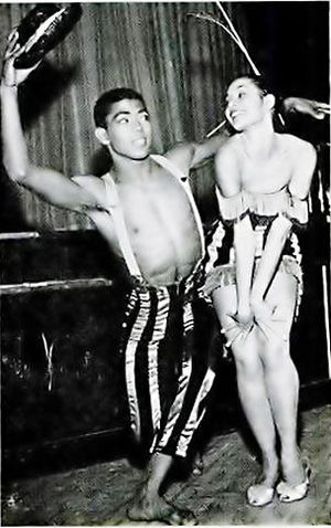 Alvin Ailey and Carmen de Lavallade in 1954.