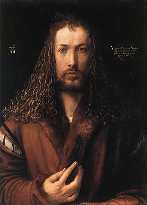 self-portrait in a Fur-Collared Robe