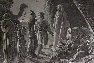 English: Balaam receiving Balak's messengers, ...