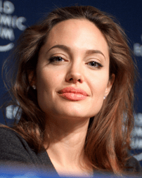 Jolie at the World Economic Forum in Davos, Sw...