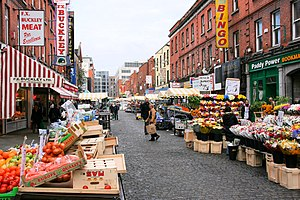 English: Moore Street market, Dublin, Dublin, ...