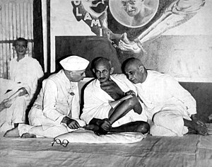 Nehru, Gandhi and Sardar Vallabhbhai Patel, Al...