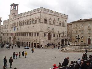 Palazzo dei Priori e Fontana Maggiore, Piazza ...