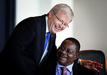 Mutharika with Australian Foreign Minister Kevin Rudd