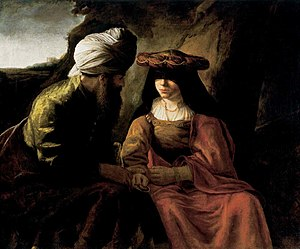 Judah and Tamar (painting circa 1650–1660 by t...