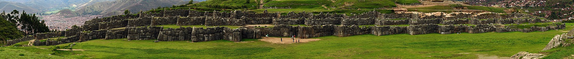 Imagen panorámica de las ruinas.