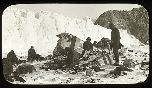 Scene on Elephant Island, after the releasing of the marooned men by Chilean tug Yelcho, 1916 - photographer Frank Hurley (8725111406)