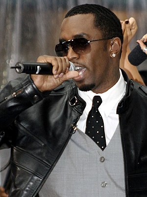 English: Sean Combs, a.k.a. Diddy, performing ...