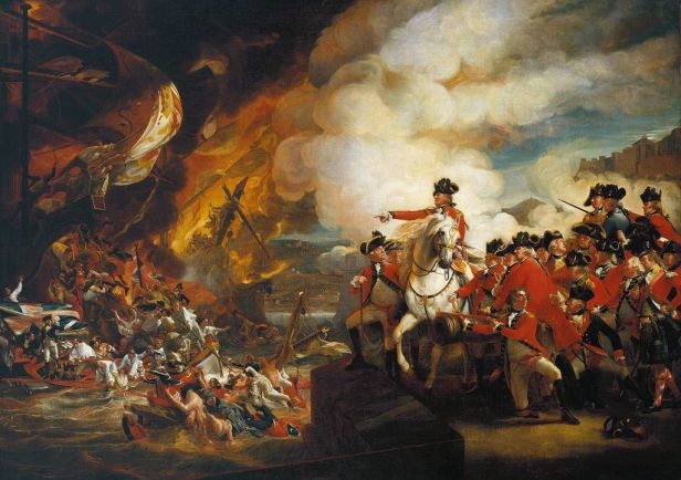 """""""The Defeat of the Floating Batteries at Gibraltar"""" by John Singleton Copley"""
