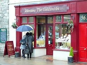 English: Window shopping in Cowbridge These la...