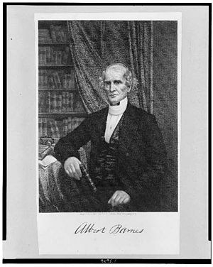 English: Portrait of Albert Barnes (theologian...