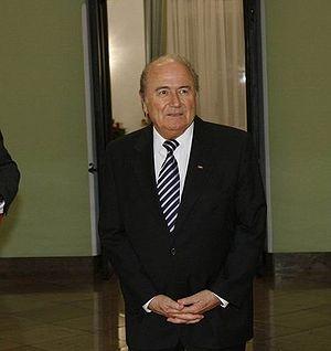 Sepp Blatter in Warsaw, 2007