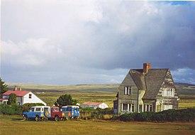 Fazenda na área rural das Malvinas, chamada localmente de