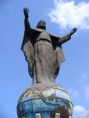 Christ statue on Dili, capital of Timor Leste.