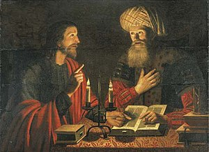 Christ talking with Nicodemus at night (Christ...