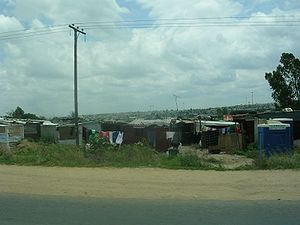 An informal township in Diepsloot, Gauteng Pro...