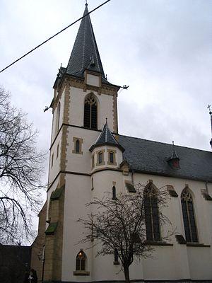 Catholic curch in Langenlonsheim, Germany