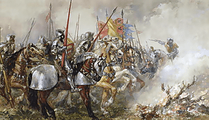 English: King Henry V at the Battle of Agincou...