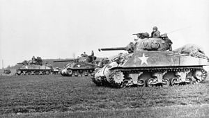 Sherman medium tank from World War II, the wor...