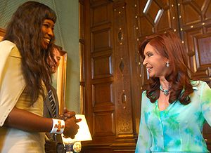 English: Naomi Campbell with Cristina Fernánde...