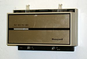 Thermostat for controlling the temperature in ...