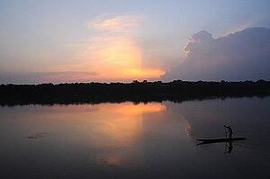 Rivière Sangha en République centrafricaine en...